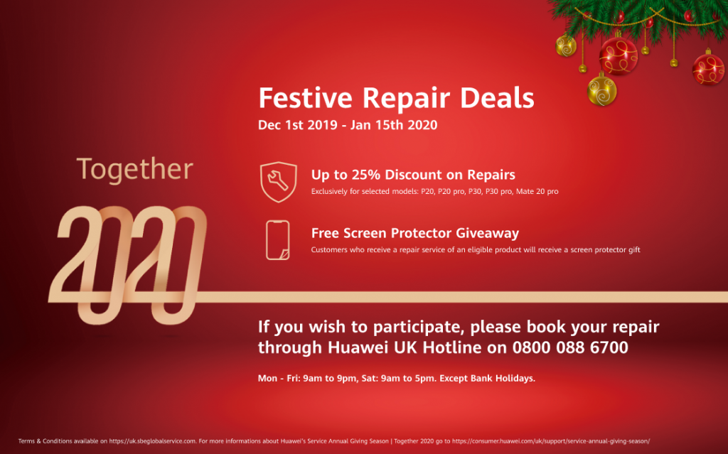 SBE Promotional Event Flyer - Huawei UK Service Annual Giving Season - Together 2020